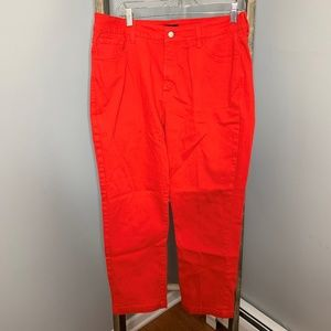 NYDJ Bright Red Ankle Jeans